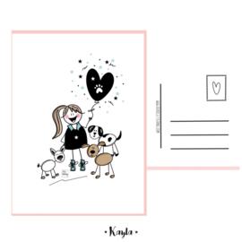 Doggies postkaartje