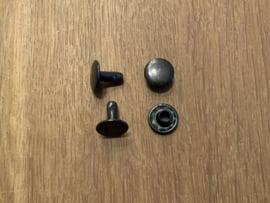 Holnieten zwart 10mm - 10mm