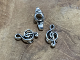G-sleutel zilver en antiek