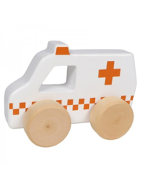 TRYCO - WOODEN AMBULANCE TOY