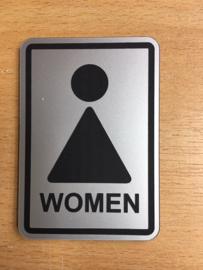 toilet vrouw modern 10 x 15 cm