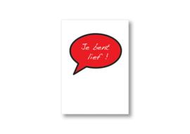 Je bent lief spreekwolk || Ansichtkaart