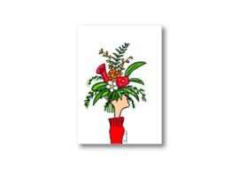 Ik geef jou een bos bloemen || Ansichtkaart