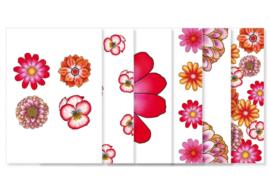Set van 6 Ansichtkaarten || Thema Bloemen