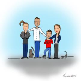 Illustraties gezin
