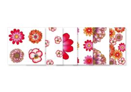 Setje van 6 cadeaukaartjes || Thema bloemen