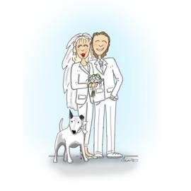 Trouwkaart Michel en Nellie