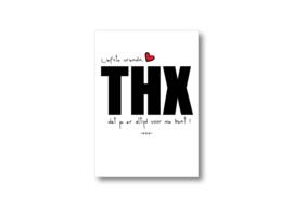 Liefste vriendin, THX || Ansichtkaart