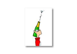 Ik geef jou een fles champagne || Ansichtkaart