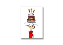 Ik geef jou een taart || Ansichtkaart