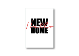 Hello new home || Ansichtkaart