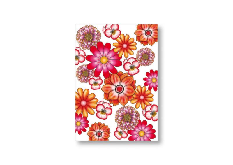 Diverse bloemen allover || Ansichtkaart