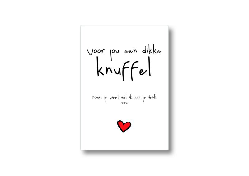 voor jou een dikke knuffel || Ansichtkaart