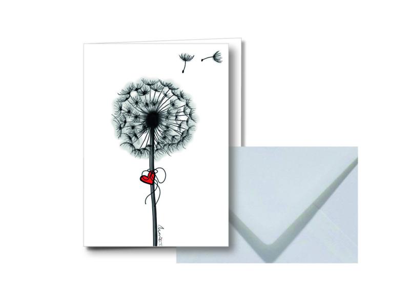 Blaasbloem    Dubbele kaart met envelop