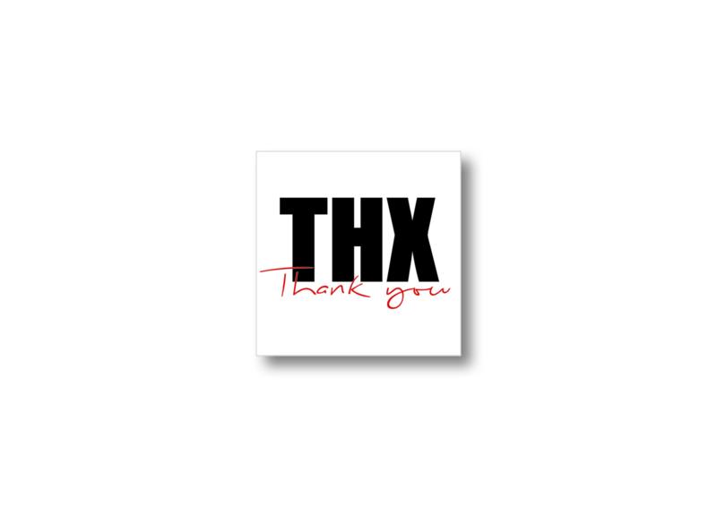THX, Thank you || Cadeaukaartje