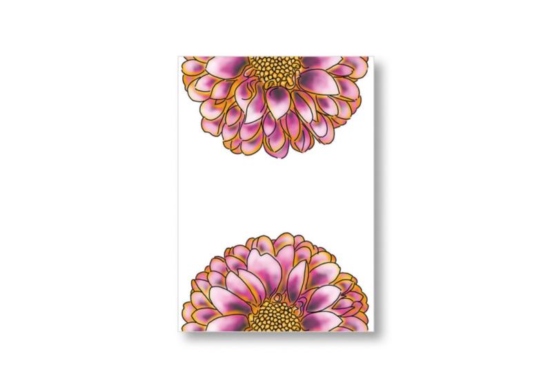 2 Halve bloemen || Ansichtkaart