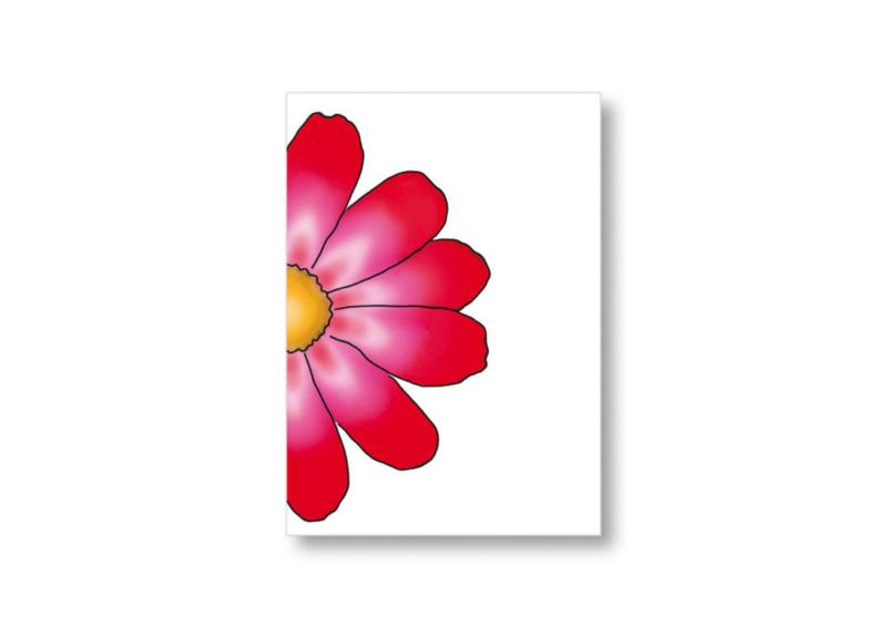 Halve bloem    Ansichtkaart