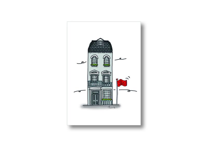 Illustratie huis || Ansichtkaart