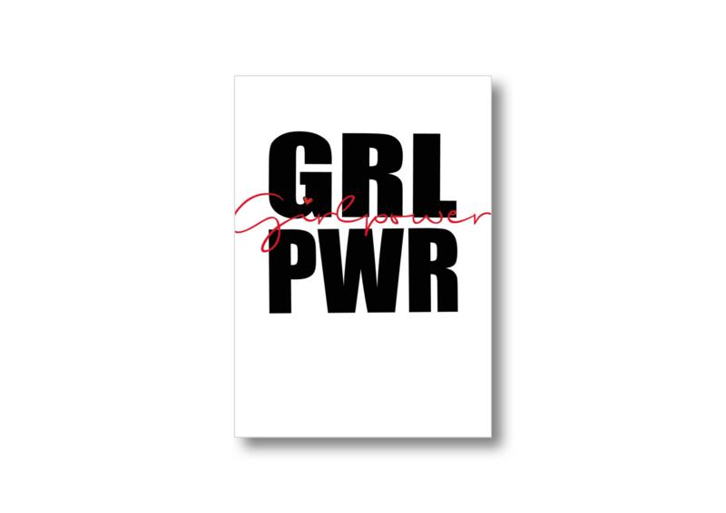 Girl power    Ansichtkaart