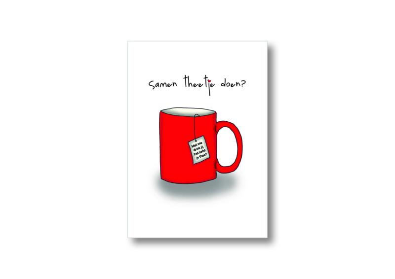 Samen theetje doen? || Ansichtkaart