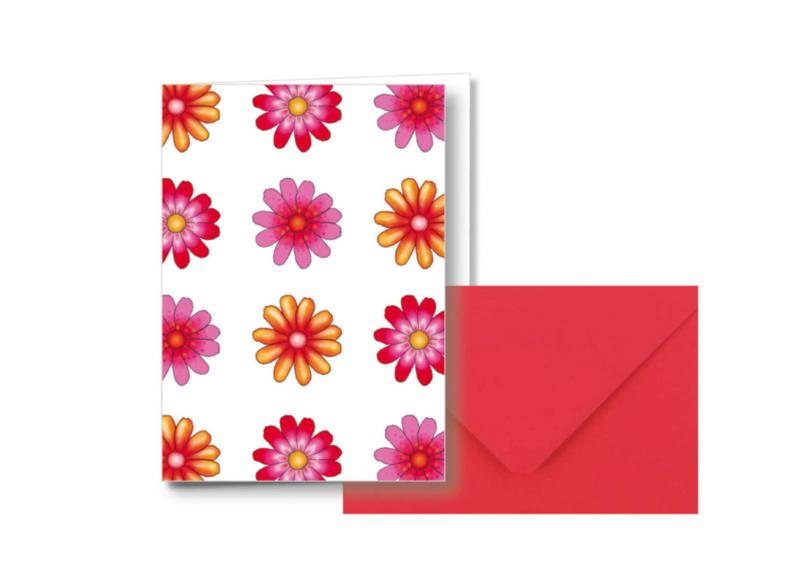 12 Bloemen || Dubbele kaart met envelop