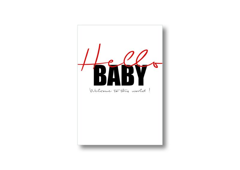 Hello baby    Ansichtkaart