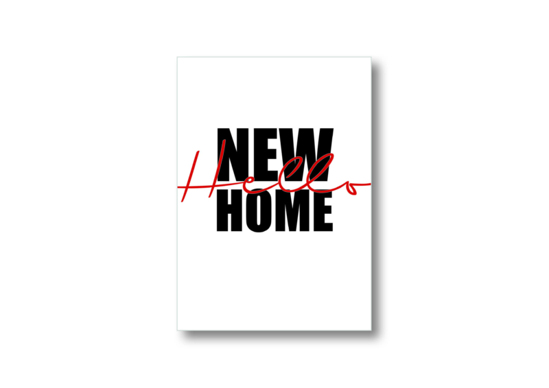 Hello new home || Ansichtkaart