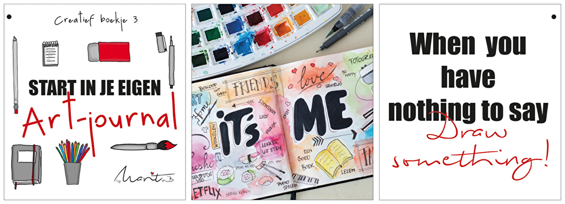 starten in je eigen art-journal by marit van buchem