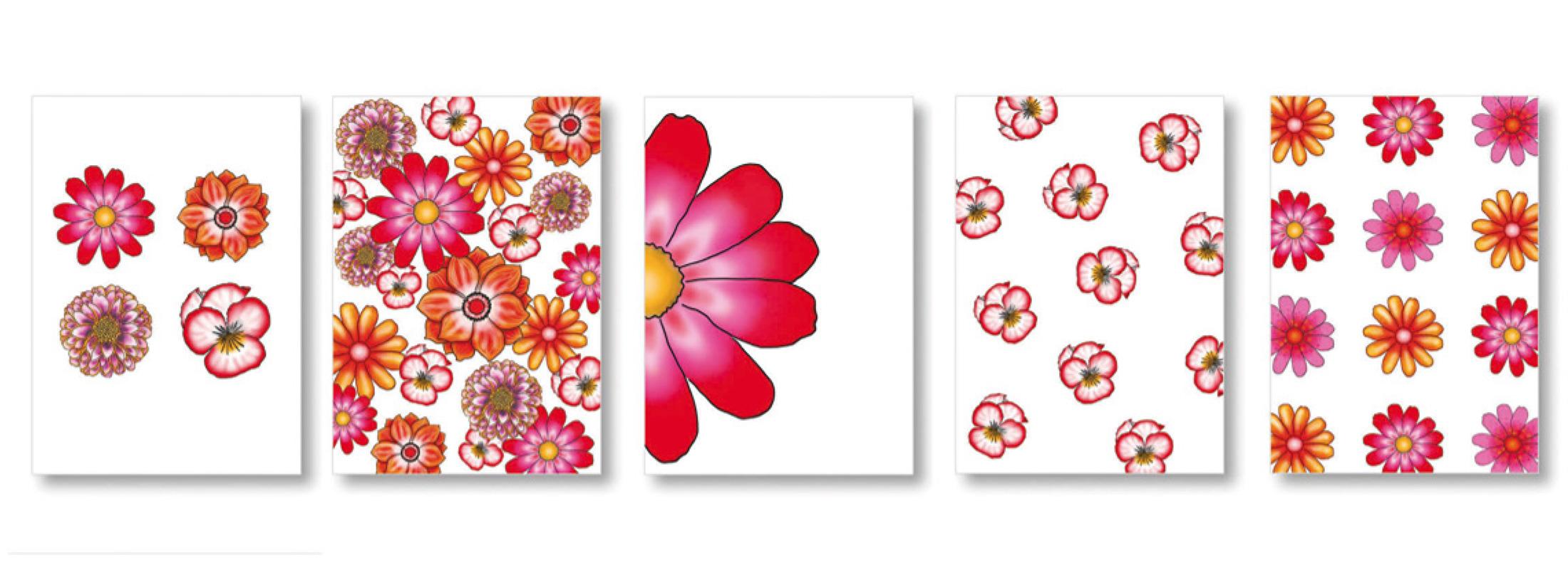 Ansichtkaarten serie bloemen by Marit van Buchem