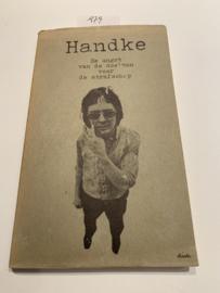De angst van de doelman voor de strafschop | Peter Handke | 1977 | Omslag Dick Bruna | Vert. Gerrit Bussink | A. W. Bruna & Zoon Utrecht /Antwerpen |
