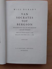 Van Socrates tot Bergson   Durant   8e druk   1941