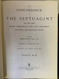 A concordance to The Septuagint and the other Greek Versions of the Old Testament | 1975 | Edwin Hatch, M.A., D.D. and Henry A. Redpath, M. A. |