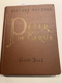 Peter de Eerste (deel I & II & III) in twee banden   Tolstoi, Aleksej   H. I. Ter Laan   1941-1945   Uitgeverij voor Litratuur in Vreemde Talen Moskou  