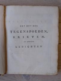 Het nut der tegenspoeden, brieven en andere gedichten   Lucretia Wilhelmina van Winter   1762