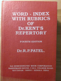 Word-index with rubrics of Kent's repertory