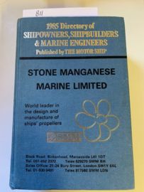 Directory of Shipowners, Shipbuilders and Marine Engineers 1985 |