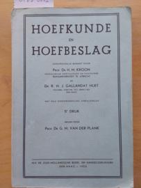 Hoefkunde en Hoefbeslag | Kroon en Gallandat Huet | v.d. Plank | 1953