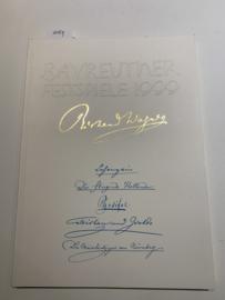 Bayreuther Festspiele 1999: Lohengrin, Der fliegende Holländer, Parsifal, Tristan und Isolde, Die Meistersinger von Nürnberg | Wolfgang Wagner | Uitgever: Bayreuther Festspiele |