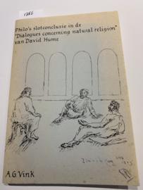 "Philo's slotconclusie in de ""Dialogues concerning natural religion van David Hume   A.G. Vink   Omslagontwerp: Rike Linssen   1985  "