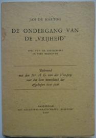 Jan de Hartog│De ondergang van de 'Vrijheid'│N.V. uitgevers maatschappij Elsevier│Amsterdam, 1939