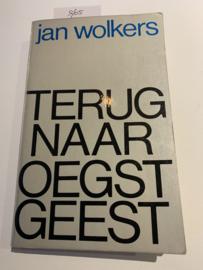 Terug naar Oegstgeest   Jan Wolkers   1965   1e Druk   Typografie en omslagontwerp; Jan Vermeulen   Uitgever J. M. Meulenhoff Amsterdam   Edtie E 65  