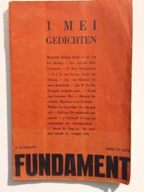 1 mei gedichten | Het Fundament |  3e jaargang | W.Cordan, David de Jong | E.Martens |