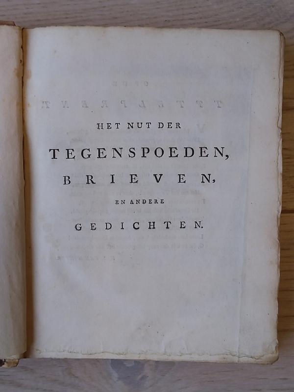 Het nut der tegenspoeden, brieven en andere gedichten | Lucretia Wilhelmina van Winter | 1762