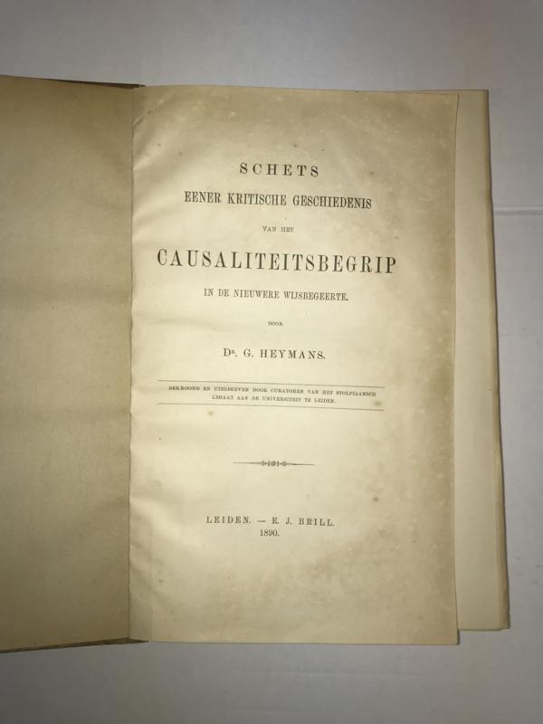 G. Heymans   Causaliteitsbegrip   1890