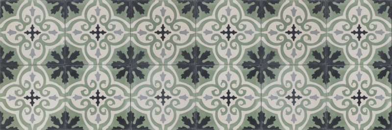 Cement tile Green