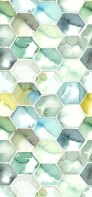Watercolored Tiles