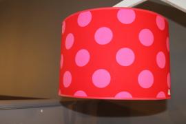 Hanglamp rood-roze bollen