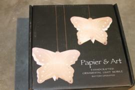 Lichtgevende mobiel vlinders
