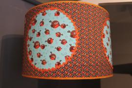 Hanglamp vogeltjes oranje retro