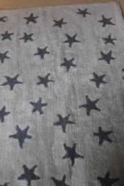 Tapijt beige grijze sterren